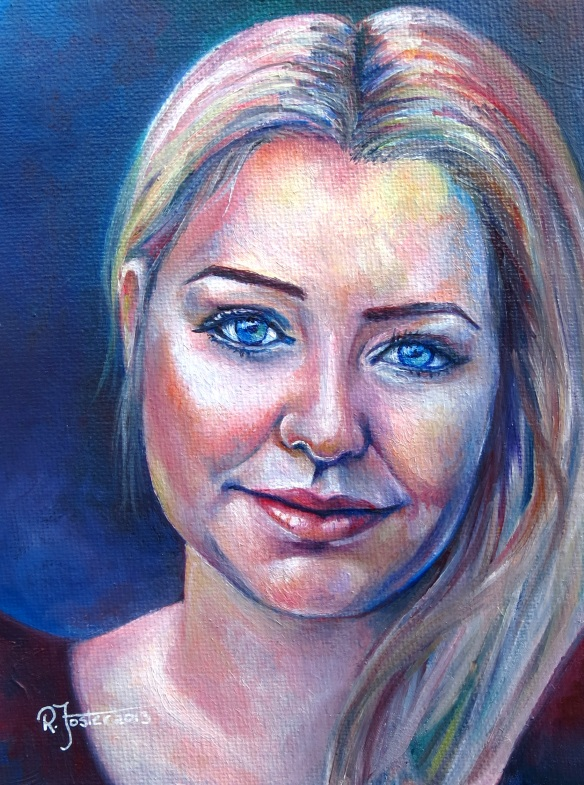 Self Portrait in oils